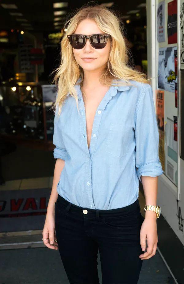 Mary-Kate-Ashley-Olsen-Style-Denim                                                                                                                                                      More