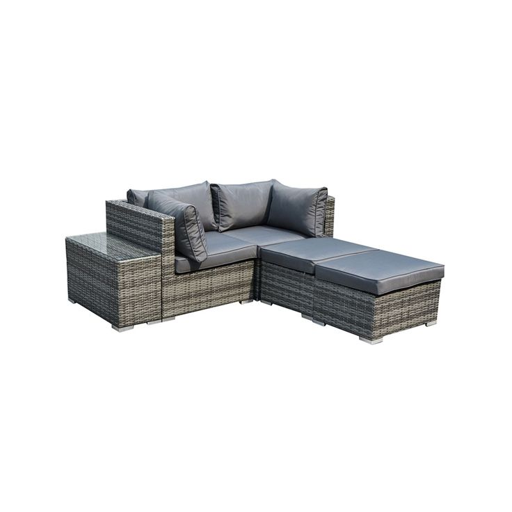 Find Charles Bentley 2 Seater Rattan Garden Lounge Set with Love Seat, Footstools & Table - Grey at Homebase. Visit your local store for the widest range of outdoor living products.