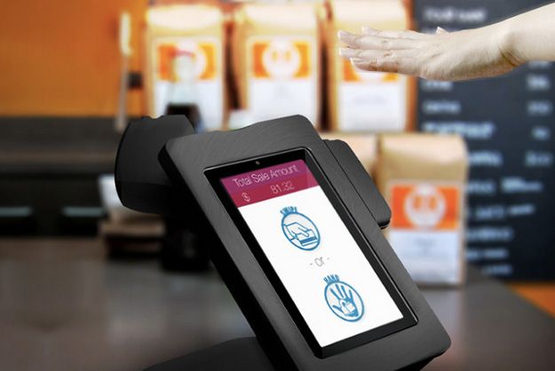 """""""Pulswallet"""" uses bio-authentification Vein-Scanning Cash Register Ushers In A New Era Of Biometric Payments // PSFK"""