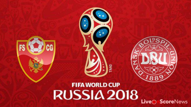 Watch Denmark vs Montenegrino live stream World cup Qualification UEFA match. Get football predictio