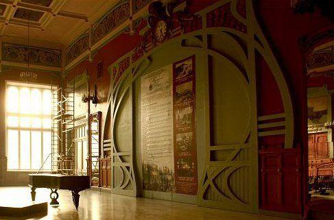 Railway station Art Nouveau interior by Stanislaw Brzozowski