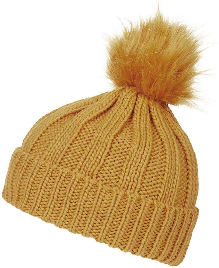 c58c62c8682 ... get knitted snood scarf topshop faux fur pom beanie hat b760f b5cdf