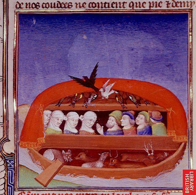 Noah's Ark Paris c. 1411 Royal 19 D. 111 Brit Lib