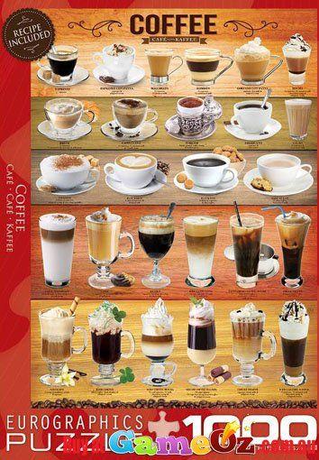 Coffee Eurographics Jigsaw Puzzle 1000 piece