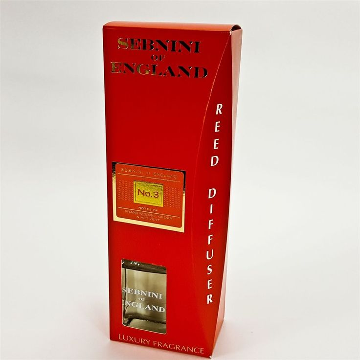 Sebnini of England Reed Diffuser Fragrance Red No. 3 Frankincense Cedar Vetivert