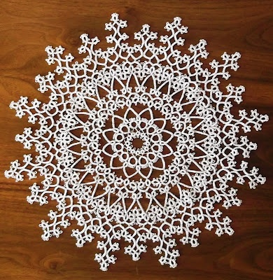 tatted doily