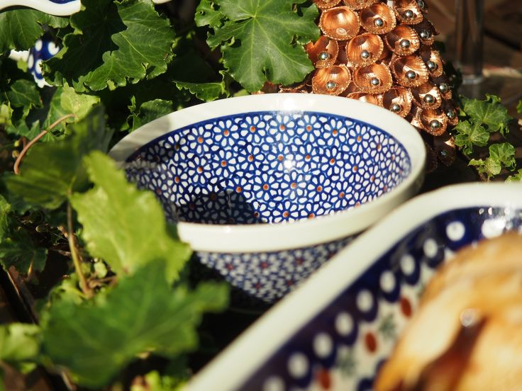 I love this polish pottery range - stunning designs