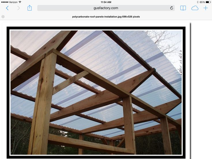 Polycarbonate Roof Panels On Pergola