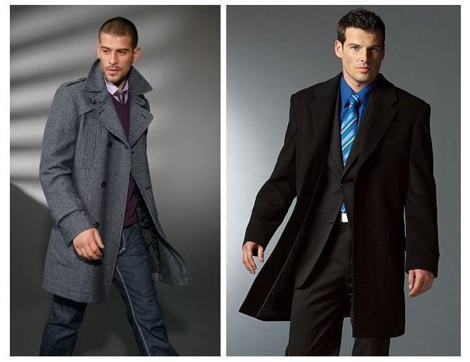 Весеннее драповое пальто мужское