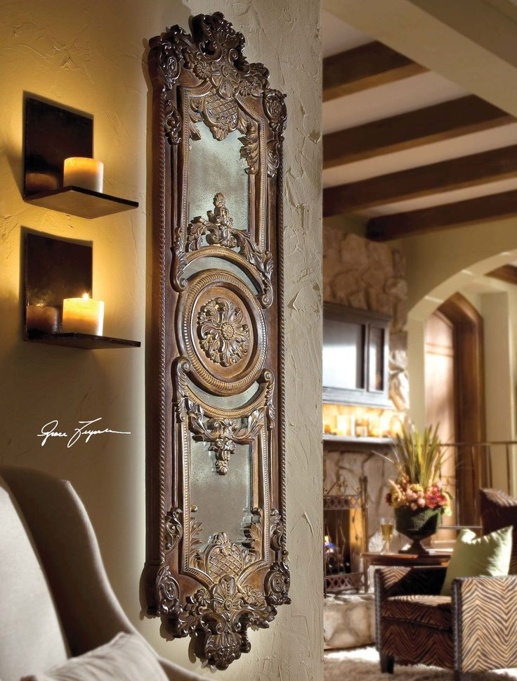 This Decorative Wall Decor Features Heavily Antiqued