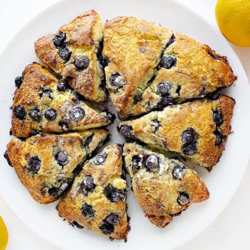 Blueberry Lemon Scones   i am baker