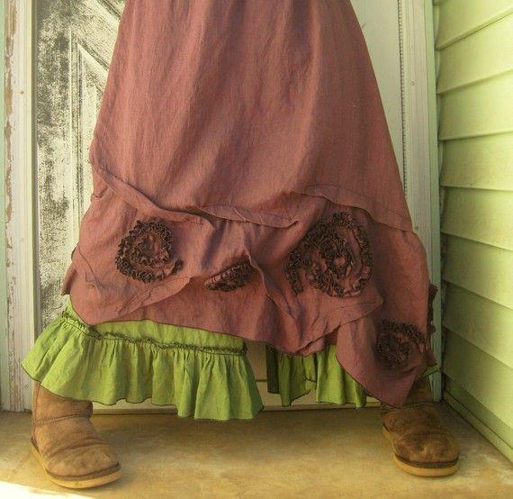 Swirly Slant Skirt by sarahclemensclothing on Etsy, $110.00 I love it but not 110.00 worth!