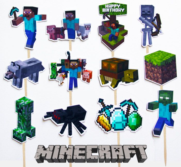 Cake Toppers Minecraft Uk : Pinterest: Discover and save creative ideas