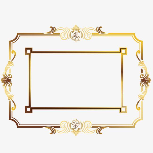 Elegant Golden Border Border Vector Gold Frame Png And Vector Pngtree Golden Border Border Vector Gold Frame Png And Vector For Free Pernikahan