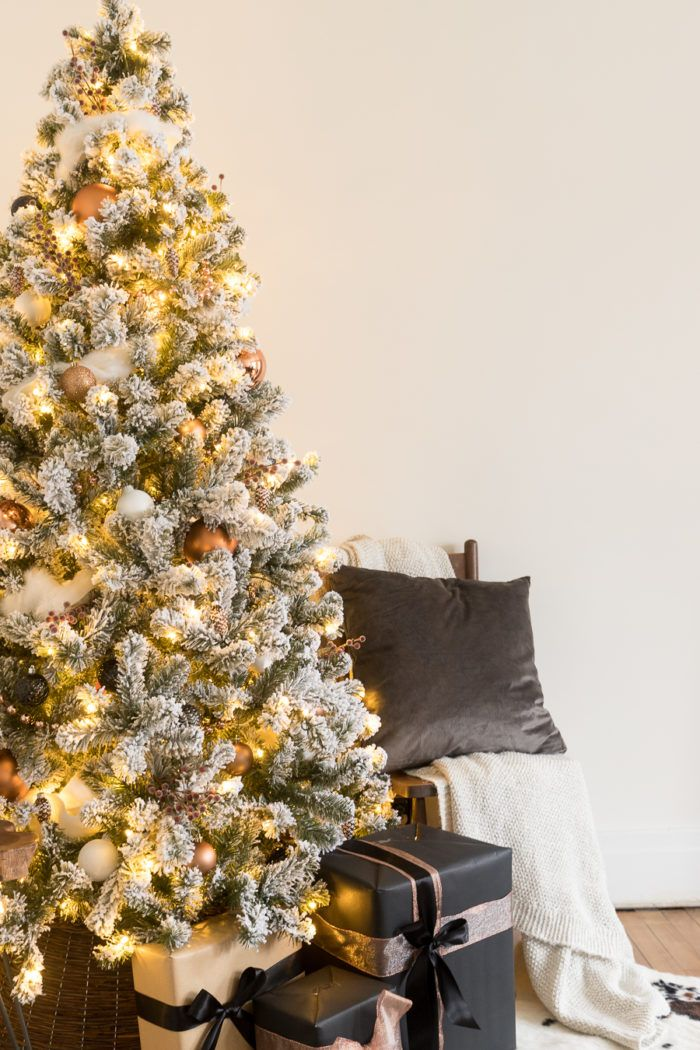 White and Copper Christmas Tree Decor | Christmas 2018 Home Tours |  Christmas, Christmas tree decorations, Tree decorations - White And Copper Christmas Tree Decor Christmas 2018 Home Tours