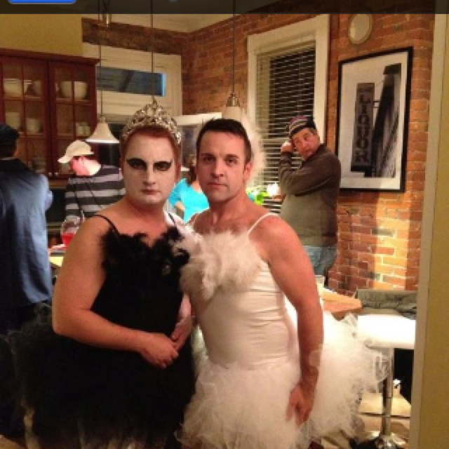 Black and white swan. Best Halloween costume ever.