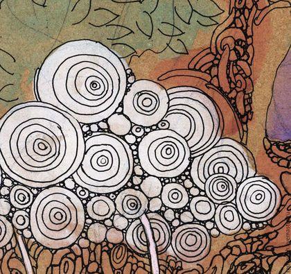 Символизм ручной работы. Детство и лето. Ярмарка Мастеров. Лето, мечтатель, акварель, картон дизайнерский