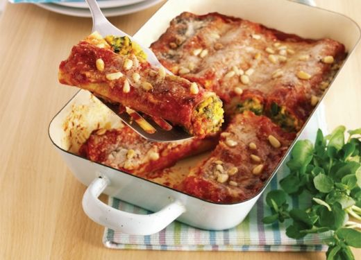 Butternut Squash and Watercress Cannelloni: Cook Vegetarian Magazine