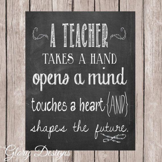 Teacher Appreciation Gift, Teacher Quote, Teacher