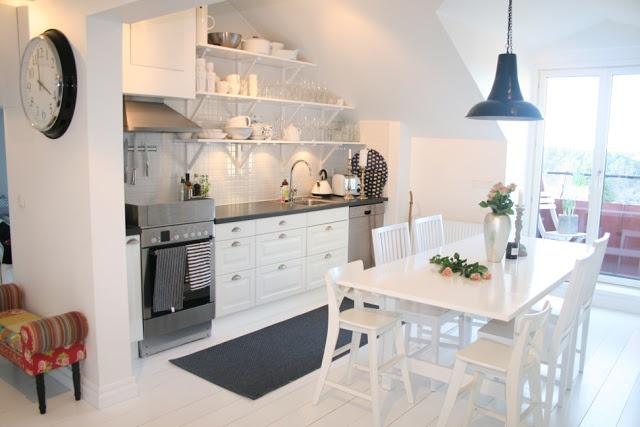 Snor och Glamour: vindsvåning kök