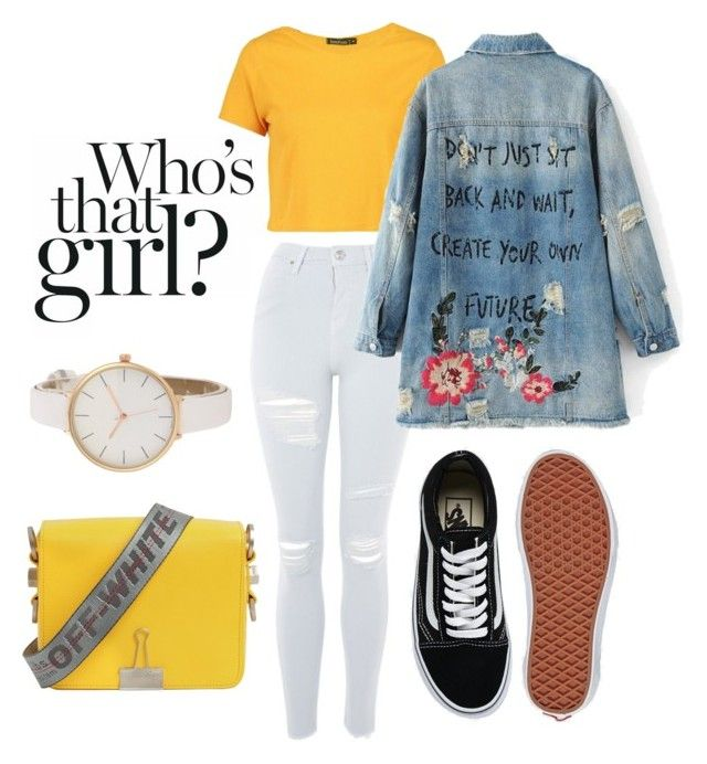 """""""Create the future"""" by danickaroetz on Polyvore featuring Topshop, Boohoo, Off-White and Vans"""