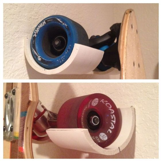 Rock Solid Skateboard Hanger From PVC Pipe Design Inspirations