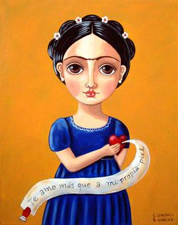 Frida Kahlo With Quote, Claudia I. García R (I love you more than my own skin)