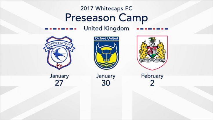 Whitecaps FC to face Bristol City FC, Cardiff City FC, and Oxford United FC in preseason friendlies