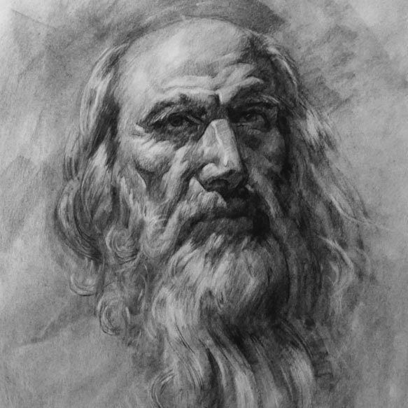 Image result for old man pencil drawing