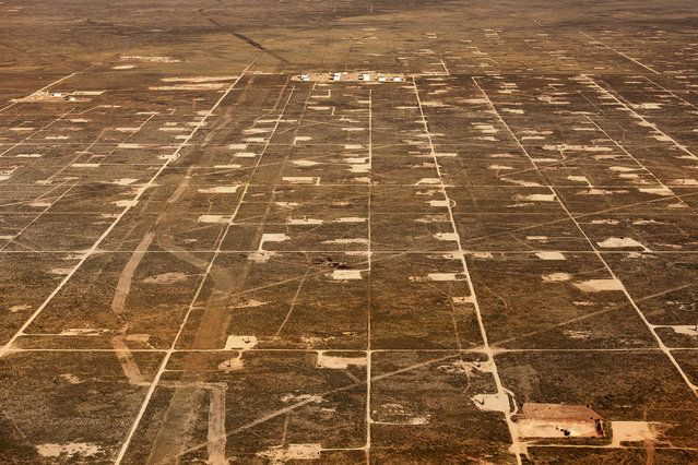 Large oil fields in Texas - USA From The Air | www.piclectica.com #piclectica