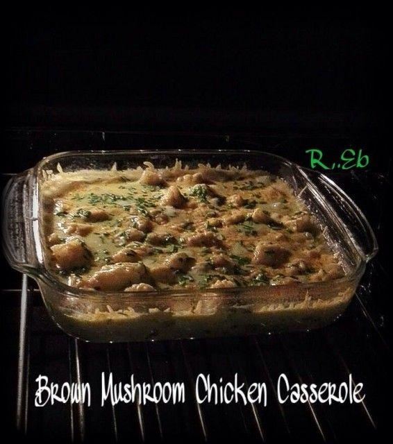 Creamy Brown Mushroom Chicken Casserole