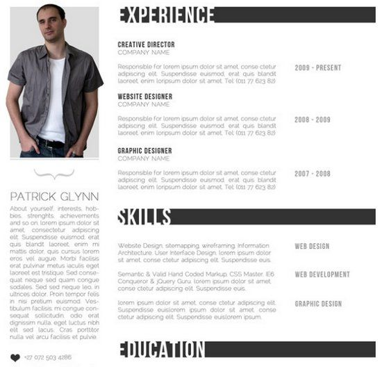download 35 free creative resume cv templates xdesigns - Free Creative Resume Templates For Mac