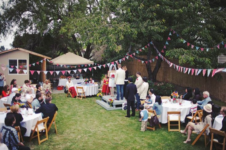 Small Diy Backyard Wedding Tasha Amp Noah S Americana