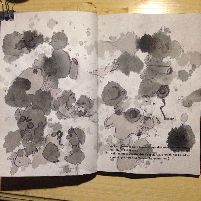 MESS: Spill a substance here, draw things based on the shapes you find