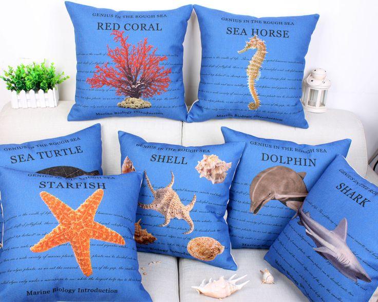 Cheap New marine cuscini bule criativos cotone di tela auto styling cuscini decorativi per auto sedia divano marine cuscino no filler, Compro Qualità Cuscino direttamente da fornitori della Cina: