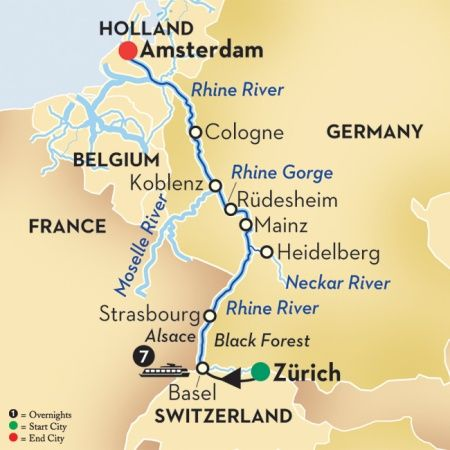 Rhine River Cruise: Austria to Holland