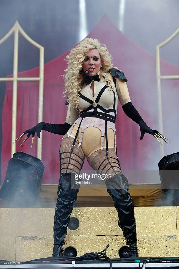Singer Maria Brink of In This Moment performs during day 2 of the Carolina Rebellion at Charlotte Motor Speedway on May 3, 2015 in Charlotte, North Carolina.