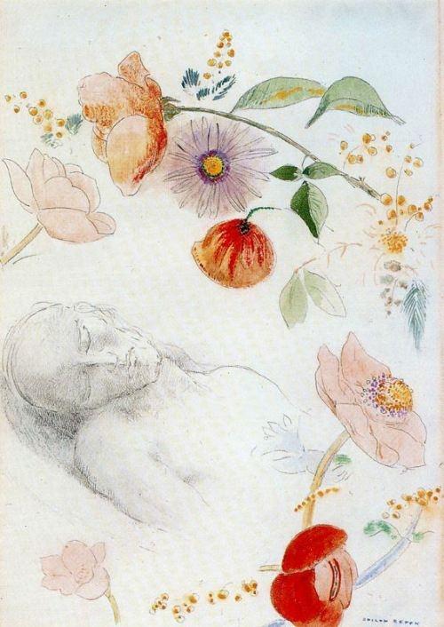 Odilon Redon ~ Flower Clouds, 1903