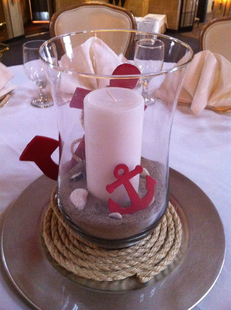 Centerpiece idea at gpyc nautical weddings pinterest