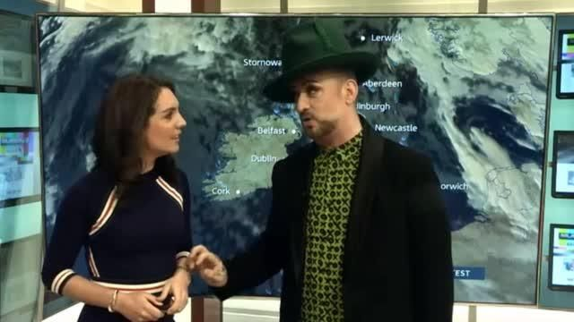 Boy George presents hilarious version of ITV weather