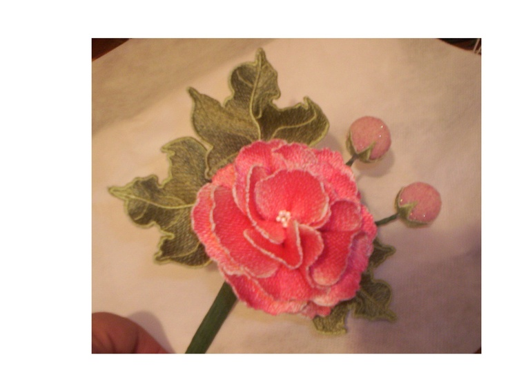 Pam s flowers were created to be stitched out in the