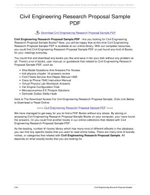 civil engineering project proposal example pdf