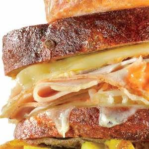 Reuben Sandwich #recipe | http://www.rachaelraymag.com/Recipes/rachael-ray-magazine-recipe-search/lunch-recipes/reuben-sandwich