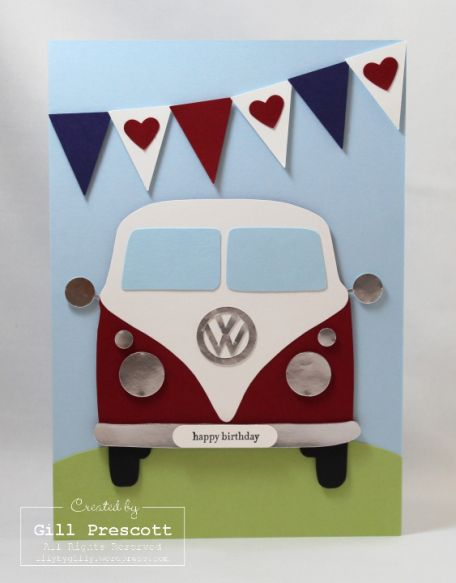 VW camper van by Gill Prescott, Lily-by-Gilly