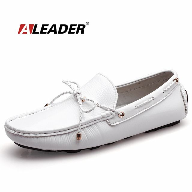 Special offer Mens Casual Loafers Shoes New 2017 Autumn Men's Patent Leather Driving Shoes Mocassin Classic Flats Black White Loafers Boat just only $27.99 with free shipping worldwide  #menshoes Plese click on picture to see our special price for you