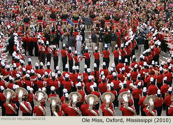 The Pride of the South ... Ole Miss Rebel Band Oxford Mississippi 2010 Comerica Bank New Years Parade
