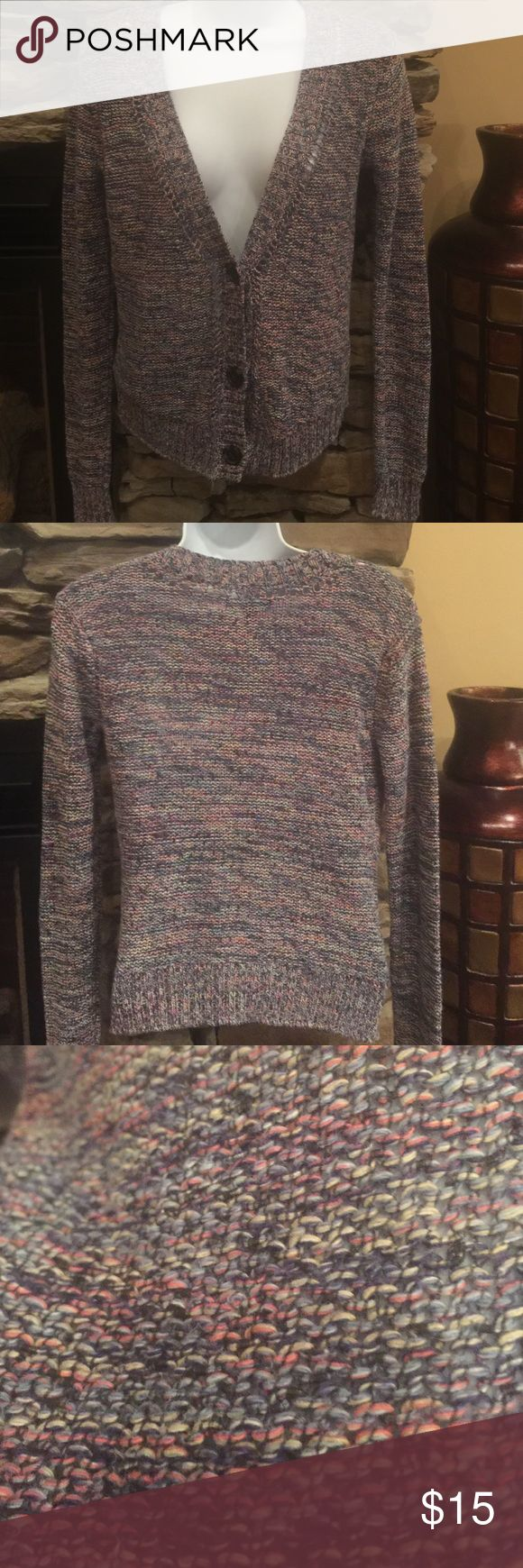 A.E. Multi color cardigan sweater Multi color blues and pink American Eagle Outfitters Sweaters Cardigans