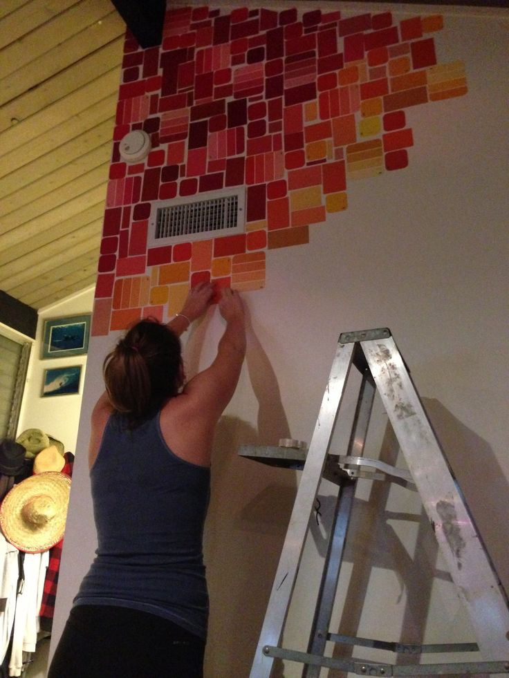 Paint Chip Wall – Artistic Junkie
