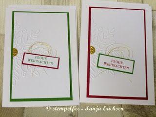 Stempelfix: Karten Geschenkset - Flockenzauber, Weihnachtskarte