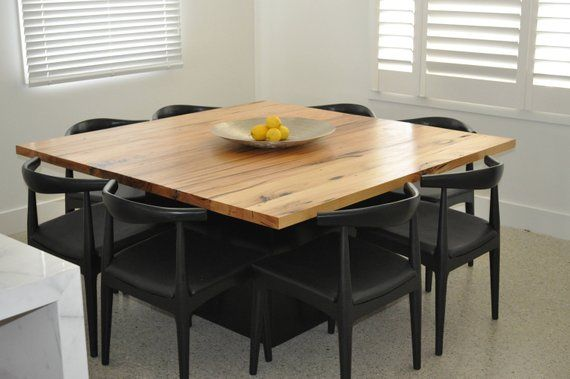 Recycled Timber Square Dining Table Dining Table Square Dining